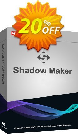 MiniTool ShadowMaker Business Coupon discount 20% off -