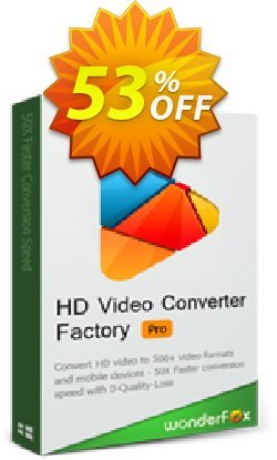 WonderFox HD Video Converter Factory Pro Coupon, discount WonderFox HD Video Converter Factory Pro discount. Promotion: WonderFox 10-Year Anniversary Offer