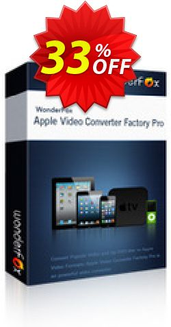 Apple Video Converter Factory Pro Coupon, discount Apple Video Converter Factory Pro hottest discount code 2019. Promotion: hottest discount code of Apple Video Converter Factory Pro 2019