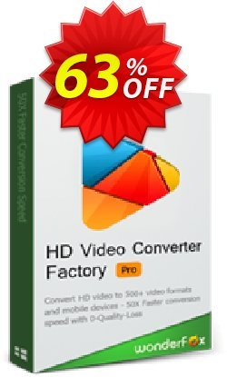 WonderFox HD Video Converter Factory Pro Family Pack Coupon, discount HD Video Converter Factory Pro discount. Promotion: WonderFox coupon codes discount for HD Video Converter Factory Pro Family Pack