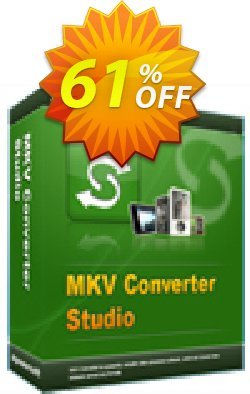 MKV Converter Studio Personal License Coupon, discount MKV Converter Studio Personal License awesome discount code 2020. Promotion: awesome discount code of MKV Converter Studio Personal License 2020