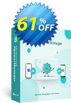 ApowerManager 1 Year License Coupon, discount ApowerManager Personal License (Yearly Subscription) wondrous sales code 2020. Promotion: excellent discounts code of ApowerManager Personal License (Yearly Subscription) 2020
