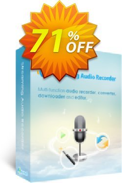 Apowersoft Streaming Audio Recorder Yearly Coupon, discount Streaming Audio Recorder Personal License (Yearly Subscription) amazing discounts code 2020. Promotion: Apower soft (17943)