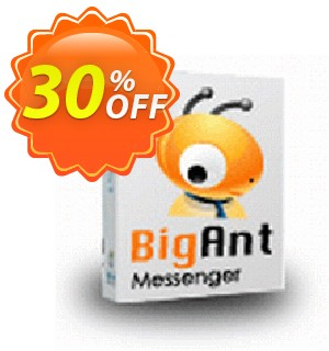Upgrade to BigAnt IM Pro version Coupon, discount up to 20 user license. Promotion: