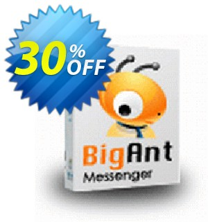 BigAnt IM 300U per user license fee Coupon, discount up to 20 user license. Promotion: