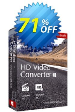 Aiseesoft HD Video Converter Coupon, discount Aiseesoft HD Video Converter excellent promotions code 2019. Promotion: 40% Off for All Products of Aiseesoft