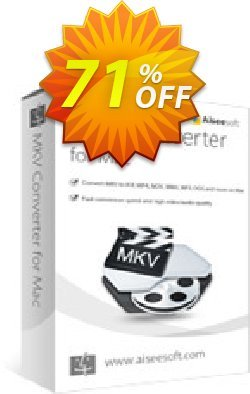 Aiseesoft MKV Converter for Mac Coupon discount 40% Aiseesoft - 40% Off for All Products of Aiseesoft