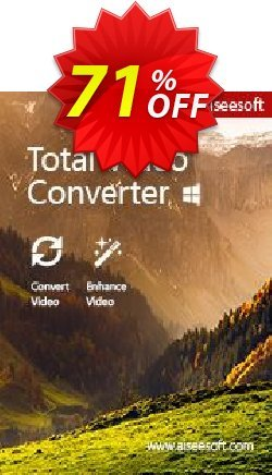 Aiseesoft Total Video Converter Coupon discount Aiseesoft Total Video Converter awesome deals code 2019 - 40% Off for All Products of Aiseesoft