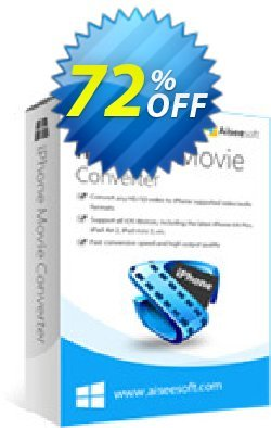 Aiseesoft iPhone Movie Converter Coupon, discount 40% Aiseesoft. Promotion: 40% Off for All Products of Aiseesoft