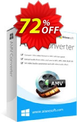 Aiseesoft AMV Converter Coupon discount Aiseesoft AMV Converter Exclusive offer code 2020 - Exclusive offer code of Aiseesoft AMV Converter 2020