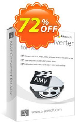 Aiseesoft AMV Converter for Mac Coupon discount 40% Aiseesoft. Promotion: 40% Off for All Products of Aiseesoft