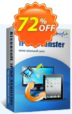 Aiseesoft iPad Transfer Coupon, discount 40% Aiseesoft. Promotion: