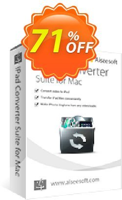 Aiseesoft iPad Converter Suite for Mac Coupon, discount 40% Aiseesoft. Promotion: 40% Off for All Products of Aiseesoft