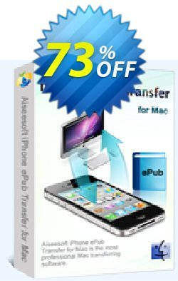 Aiseesoft iPhone ePub Transfer for Mac Coupon, discount 40% Aiseesoft. Promotion: