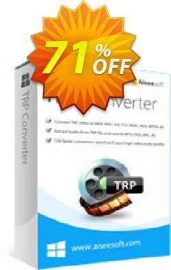 Aiseesoft TRP Converter Coupon discount 40% Aiseesoft - 40% Off for All Products of Aiseesoft