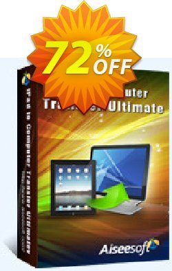 Aiseesoft iPad to Computer Transfer Ultimate Coupon discount 40% Aiseesoft. Promotion: