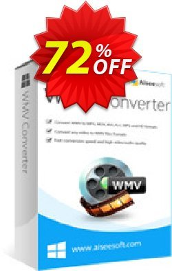 Aiseesoft WMV Converter Coupon discount 40% Aiseesoft - 40% Off for All Products of Aiseesoft
