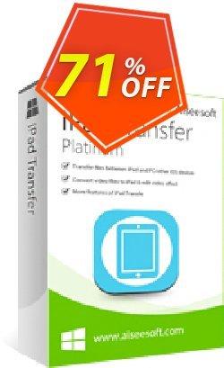 Aiseesoft iPad Transfer Platinum Coupon, discount Aiseesoft iPad Transfer Platinum. Promotion: