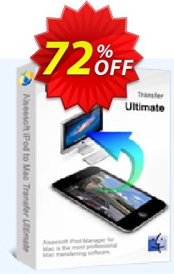 Aiseesoft iPod to Mac Transfer Ultimate Coupon, discount 40% Aiseesoft. Promotion: