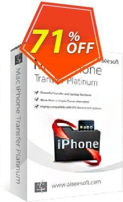 Aiseesoft Mac iPhone Transfer Platinum Coupon, discount 40% Aiseesoft. Promotion: