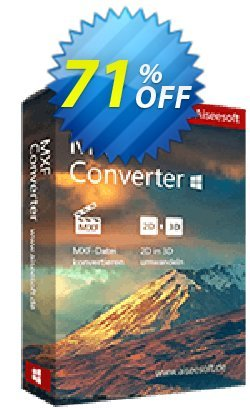 Aiseesoft MXF Converter Coupon, discount Aiseesoft MXF Converter exclusive sales code 2020. Promotion: 40% Off for All Products of Aiseesoft