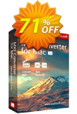 Aiseesoft MXF Converter for Mac Coupon, discount 50% Aiseesoft. Promotion: 50% Off for All Products of Aiseesoft