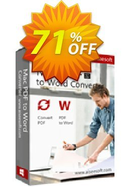Aiseesoft Mac PDF to Word Converter Coupon, discount 40% Aiseesoft. Promotion: 40% Off for All Products of Aiseesoft