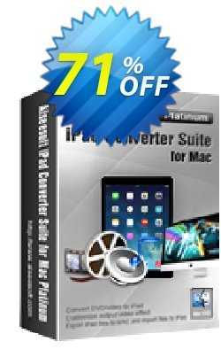 Aiseesoft iPad Converter Suite for Mac Platinum Coupon, discount Aiseesoft iPad Converter Suite for Mac Platinum hottest discount code 2020. Promotion: hottest discount code of Aiseesoft iPad Converter Suite for Mac Platinum 2020