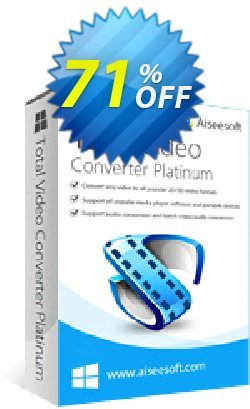 Aiseesoft Total Video Converter Platinum Coupon discount Aiseesoft Total Video Converter Platinum imposing deals code 2019 - imposing deals code of Aiseesoft Total Video Converter Platinum 2019
