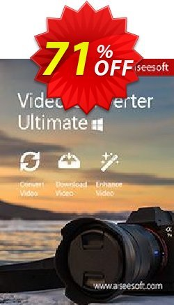 Aiseesoft Video Converter Ultimate Coupon discount Aiseesoft Video Converter Ultimate dreaded offer code 2019 - 40% Off for All Products of Aiseesoft