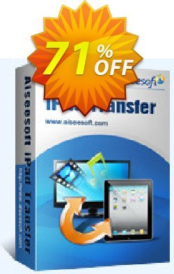 Aiseesoft iPad Transfer Ultimate Coupon, discount 40% Aiseesoft. Promotion: