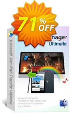 Aiseesoft Mac iPad Manager Ultimate Coupon, discount 40% Aiseesoft. Promotion: