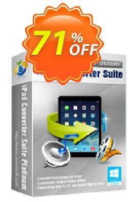 Aiseesoft iPad Converter Suite Platinum Coupon, discount . Promotion: 40% Off for All Products of Aiseesoft