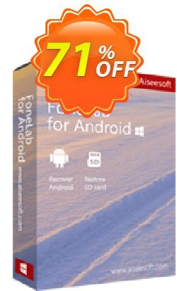 FoneLab Android Data Recovery Coupon discount 50% Aiseesoft FoneLab for Android - Android Data Recovery. Promotion: