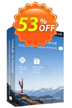 Mac FoneLab - Android Data Backup & Restore Coupon, discount 40% Aiseesoft. Promotion: 40% Aiseesoft Coupon code