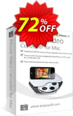 Aiseesoft iPhone Video Converter for Mac Coupon, discount 40% Aiseesoft. Promotion: 40% Off for All Products of Aiseesoft