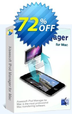 Aiseesoft iPod Manager for Mac Coupon, discount 40% Aiseesoft. Promotion: 40% Off for All Products of Aiseesoft