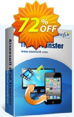 Aiseesoft iPod Transfer Coupon, discount 40% Aiseesoft. Promotion: 40% Off for All Products of Aiseesoft