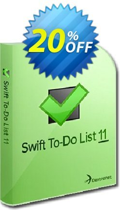 Swift To-Do List - 11-25 users  Coupon discount 20% OFF Swift To-Do List (11-25 users), verified - Wondrous deals code of Swift To-Do List (11-25 users), tested & approved