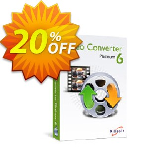 Xilisoft Video Converter Platinum for Mac Coupon, discount 20% off for all products. Promotion: 20% off
