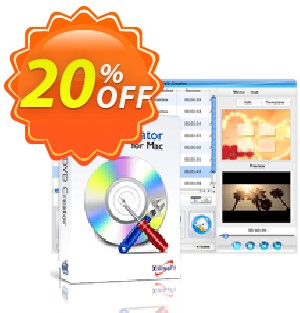 Xilisoft DVD Creator 6 for Mac Coupon, discount 20% off for all products. Promotion: 20% off