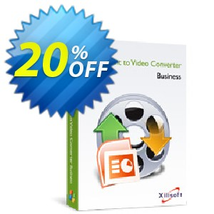Xilisoft PowerPoint to Video Converter Business Coupon, discount 20% off for all products. Promotion: 20% off