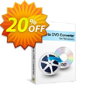 Xilisoft Video to DVD Converter Coupon, discount 20% off for all products. Promotion: 20% off