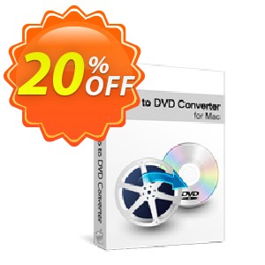 Xilisoft Video to DVD Converter for Mac Coupon, discount 20% off for all products. Promotion: 20% off