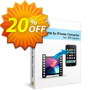 Xilisoft YouTube to iPhone Converter Coupon, discount 20% off for all products. Promotion: 20% off