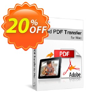 Xilisoft iPad PDF Transfer for Mac Coupon, discount 20% off for all products. Promotion: 20% off