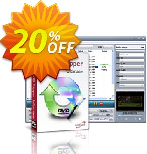 Xilisoft DVD Ripper Ultimate Coupon, discount 20% off for all products. Promotion: 20% off