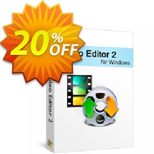 Xilisoft Video Editor 2 Coupon, discount 20% off for all products. Promotion: 20% off