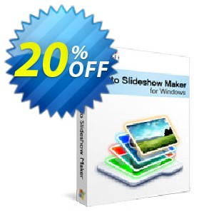 Xilisoft Photo Slideshow Maker Coupon, discount 20% off for all products. Promotion: 20% off