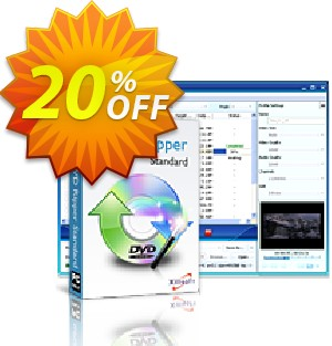Xilisoft DVD Ripper Standard Coupon, discount 20% off for all products. Promotion: 20% off
